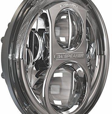 JW Speaker 8700J-C Chrome Evo J LED Headlight, Set of 2