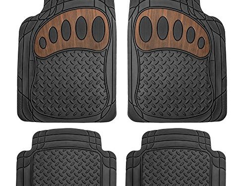 FH Group F11310BLACK All Weather Floor Mat, 4 Piece Heavy Duty