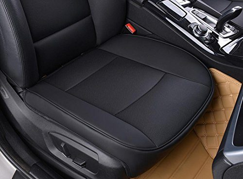 """Black – EDEALYN Ultra-luxury PU leather Car seat protection car seat cover For Most Four-door sedan & SUV& Truck ,Single seat without backrest W 20.5""""× L21"""" 3D"""