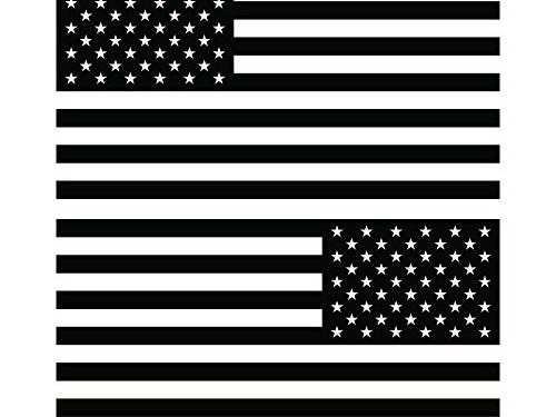 American Flag United States Decal Sticker for Car Window, Laptop, Motorcycle, Walls, Mirror and More. # 816 4″ x 7.6″, Black
