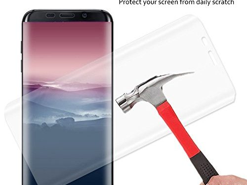 Galaxy S8 Screen Protector, Caketi High Definition 3D Full Coverage Tempered Glass Screen Protector for Samsung Galaxy S8
