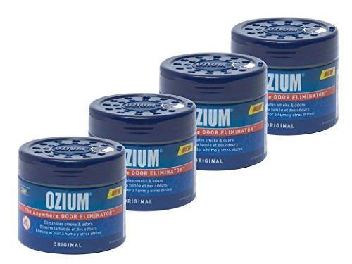 Ozium Smoke & Odors Eliminator Gel. Home, Office and Car Air Freshener 4.5oz 127g, Original Scent Pack of 4