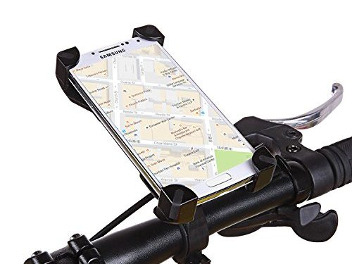 Bike Mount, VIUME Bike Phone Mount Bicycle Holder Universal Cradle Clamp for iPhone 5 5s 6 6s 7 Plus, Samsung Galaxy S4 S5 S6 S7 S8 Edge Note 4 5 Android Smartphone GPS Black