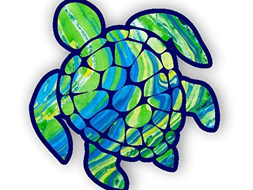 Sea Turtle Decal/sticker green