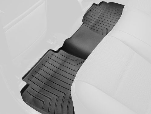 WeatherTech Custom Fit Rear FloorLiner for Select Chevrolet/GMC Models Black