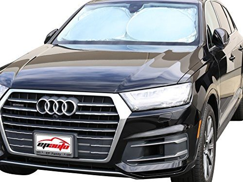 UV Ray Deflector for Full-Size Sedan / SUV / Jeep / Minivan Vehicle Cool and Damage Free 63 x 34 Inches – EPAuto Car Windshield Sun Shade