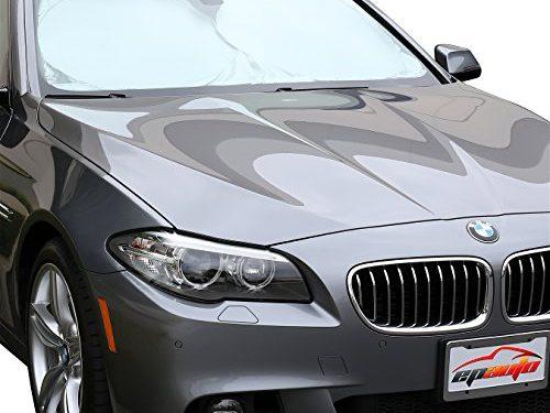 EPAuto Car Windshield Sun Shade – UV Ray Deflector for Midsize Sedan / SUV / Vehicle Cool and Damage Free 59 x 31 inches
