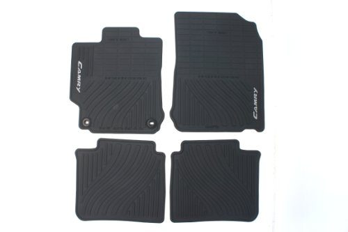 Black, Set of 4 – Genuine Toyota Accessories PT908-03120-20 Front and Rear All-Weather Floor Mat