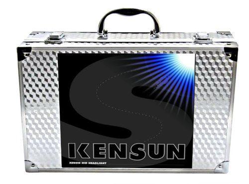 "Kensun HID Xenon Conversion Kit ""All Bulb Sizes and Colors"" with Premium Ballasts – 5000k – H13 9008 Bi-Xenon"