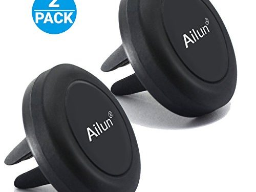 Car Phone Mount,by Ailun,Air Vent Magnetic Holder,2PacksUniversal for iPhone 7/6/6s Plus,Samsung Galaxy s8/s8+ S7/S7 Edge,S6/S6 Edge+ Galaxy Note 5 and other Smartphones/TabletsBLACK