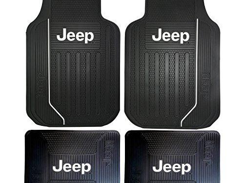 4PC Plasticolor Black Jeep Elite Heavy Duty Rubber Front Rear Floor Mats