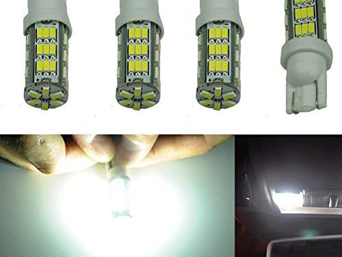Cutequeen LED Car Lights Bulb White T10 3528 42-SMD 194 168 pack of 4