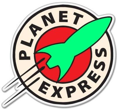 2.5″ – Futurama Planet Express Vynil Car Sticker Decal