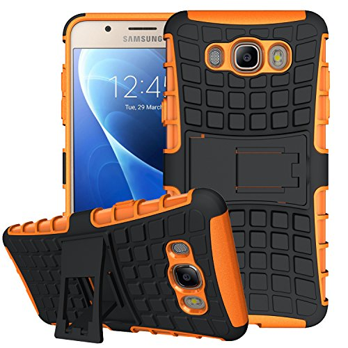 J7 Case,Galaxy J7 Case2016 Version,K-XiangArmor Series Heavy Duty Protection Hybrid Shockproof Dual Layer Protective Case Cover With Stand for Samsung ...