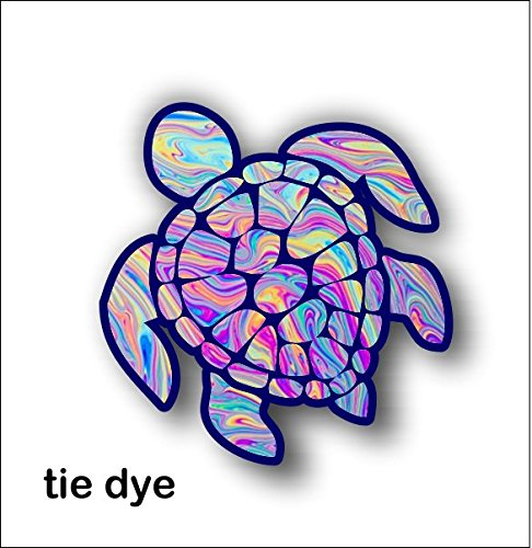 Sea Turtle Decal Sticker Tye Dye Bipflip