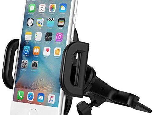 Vantrue CD Slot Car Mount Phone Holder with Quick Release Button for iPhone 7 Plus/7/6S Plus/6Plus/6S/6/5s/SE/5, Galaxy S7 Edge/S7/S6/S6 Edge/Note 5/4, Google Pixel/Pixel XL/Nexus 6/6P/5X/5, etc