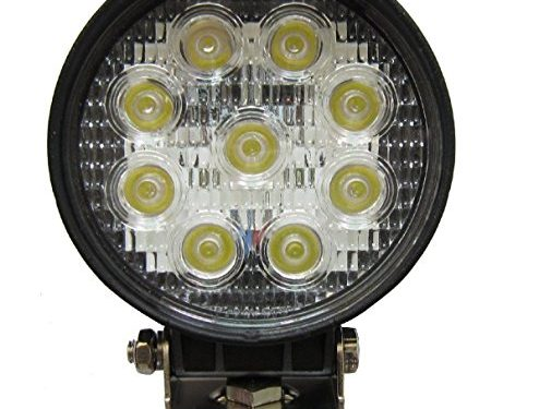 27W Round LED Work Light Lamp Off Road High Power ATV Jeep 4×4 Tractor 30 Degree Spot Light