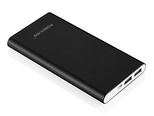 Black Apple Cable Not Included – Poweradd 2nd Gen 3.4A Pilot 2GS 10000mAh Power Bank with High-Speed Charge for iPhone, Samsung Galaxy and More