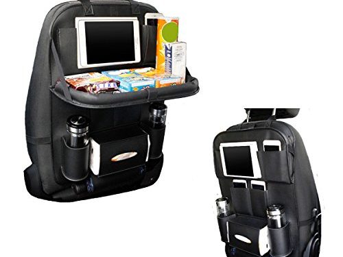 TOCGAMT Car Backseat Organizer with Table for Baby Kids  Black