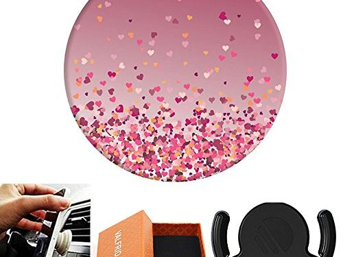 Multi-Function Holder Expanding Stand and Grip pop clip for Smartphones and Tablets Heart Confetti