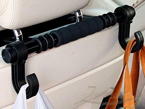 Black w/two sided hangers – Zento Deals Multifunction Car Back Seat Hook/Hanger