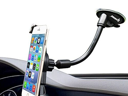 Diagonal Clamp Car Holder,Ipow Large Device Dashboard/Windshield Phone Mount Cradle for iPhone 7 Plus 6 6S 6 Plus SE, Samsung Galaxy Edge S8 S7 S6 S5 S4 S3, Nexus 5/4, LG G3, HTC, GPS etc
