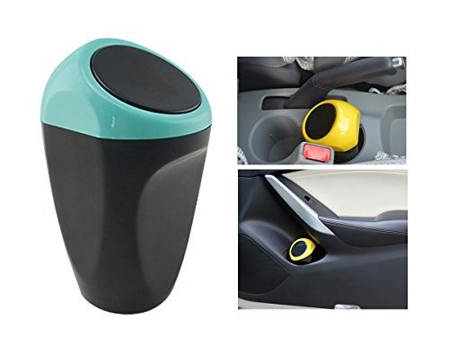 KDL Car Auto Garbage Trash Can Automotive Waste Storage Blue