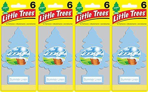 Little Trees Summer Linen Air Freshener, Pack of 24