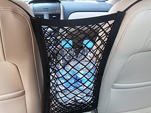 Mesh Cargo Net Hook Pouch Holder for Bag Luggage Pets Children Kids Disturb Stopper – Mictuning Universal Car Seat Storage Mesh/Organizer