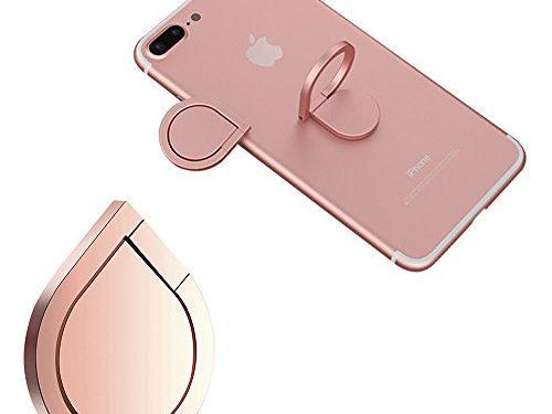 Finger Ring Stand, mobile cell phone stand holder Car Mount Phone Ring Grip 360°Universal Grip Finger Ring Holder Zinc Alloy Rose Gold