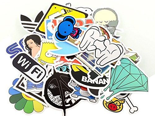 StillCool Pack of 100 Stickers Skateboard Snowboard Vintage Vinyl Sticker Graffiti Laptop Luggage Car Bike Bicycle Decals Mix Lot Fashion Cool