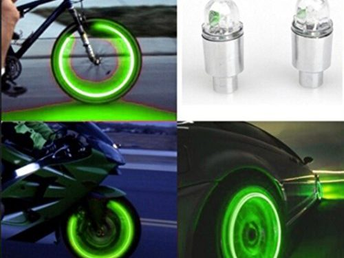 Car Tyres Lamp,Fabal Auto Accessories Bike Supplies Neon Blue Strobe LED Tire Valve Caps Green