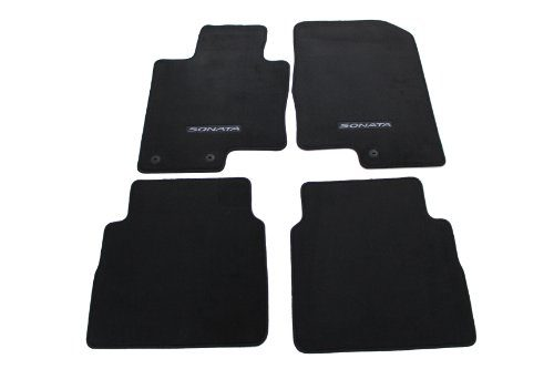Genuine Hyundai Accessories 3QF14-AC200RY Black Front and Rear Carpet Floor Mat for Hyundai Sonata/Hyundai Sonata Hybrid