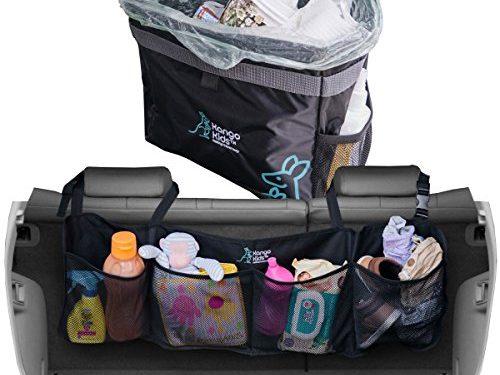 Premium Quality Auto Trunk Organizer and Waterproof Car Trash Bag. Durable Storage to Keep your Car and Trunk Organized and Clean with Adjustable Straps. Hanging Garbage Can including Storage Pockets.