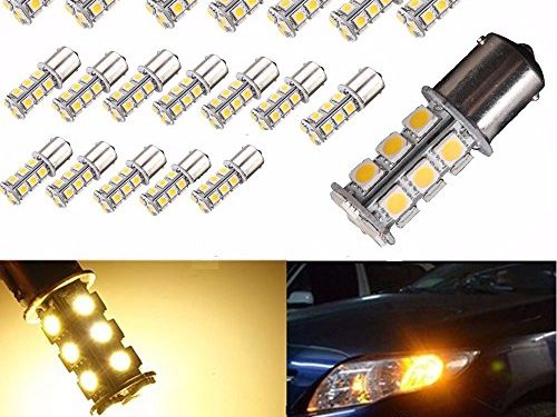 AUTOUS90 20 X 1156 1141 1003 BA15S 18 SMD RV Camper Warm White LED Light Bulbs Tail Backup