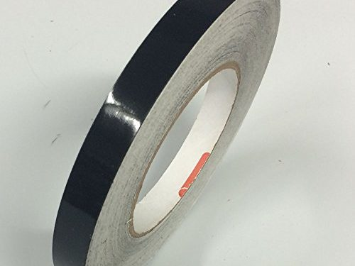 Black Oracal 651 Vinyl PinStriping, Pinstripes Tape for Autos, Bikes, Boats – 1/4″ – Decals, Stickers, Striping, Pinstripes