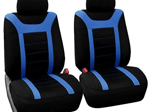 FH Group FB070BLUE102 Blue Front Airbag Ready Sport Bucket Seat Cover, Set of 2