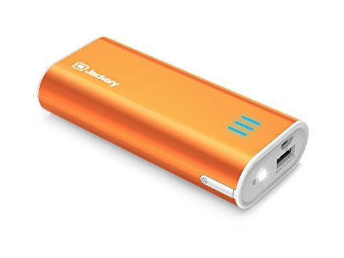 Jackery Bar Pocket-sized 6000mAh Ultra Compact Portable Charger External Battery Power Bank with Premium Battery Cells Aluminum Shell Superior Charging Speed Orange