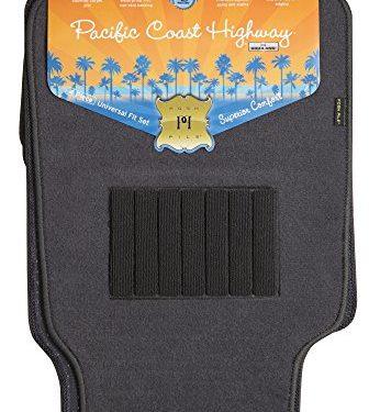 Highland 4560500 Pacific Coast Highway Luxury Carpet Floor Mat, Gray – 4 Piece
