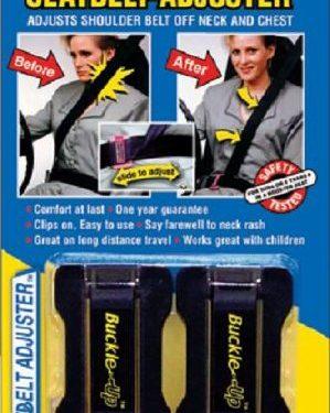 Masterlink Marketing 296-bu Black Seatbelt Adjuster, Pack of 2