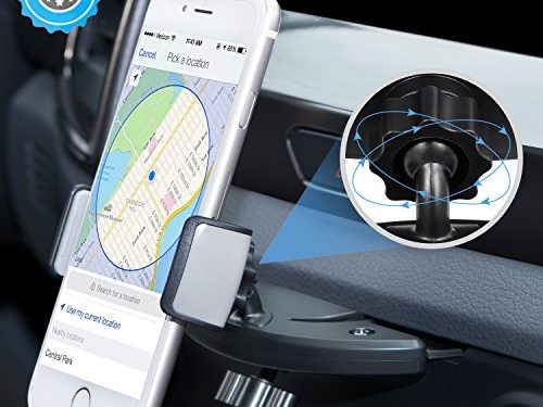 Goodsail Cell Phone Car mount, Universal CD Slot Phone Mount Holder 360° Rotation for iPhone 7 /7plus, 6/6s,5/5s, Galaxy / Note, HTC, LG, Nexus & SmartphonesBlack