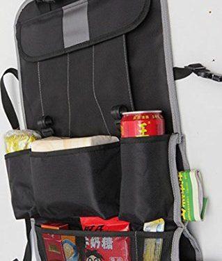 CarClean Car Seat Back Organizer – Multi-Pocket Travel Storage Bag for Baby Travel Accessories, Kids Toy Storage, Back Seat Protector / Kick Mat BO-004 – Baby Backseat Organizer