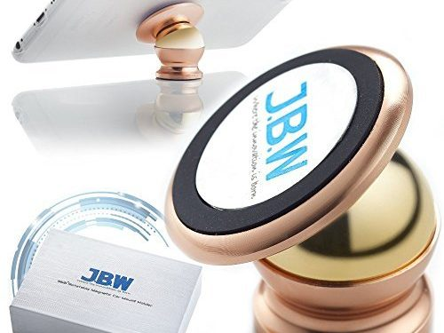 Car Mount, J.B.W. Premium Magnetic Cell Phone Holder Cell Phone Car Mount Smartphone Holder 360 Degree Rotatable Cradle Mount Kit – Rose Gold