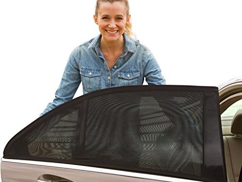 ShadeSox Universal Fit Car Side Window Baby Sun Shade 2 Pack | Protects Your Baby and Older Kids from the Sun, Fits All 99% Cars! Most SUVs! | Travel eBook Included!