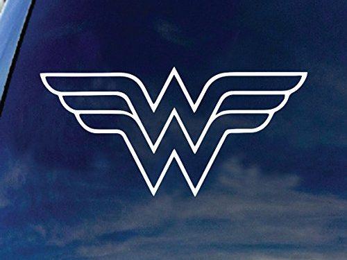 W Superhero Woman Symbol Car Truck Vinyl Decal 6″ Wide