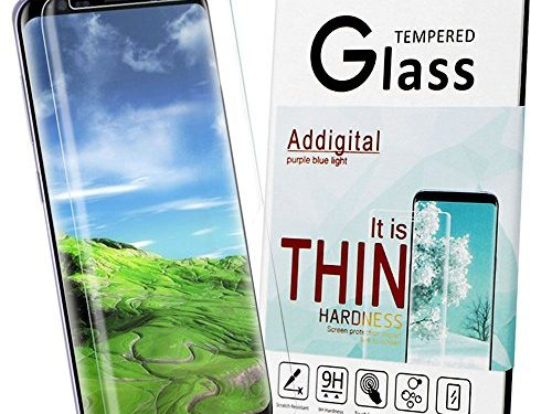 Galaxy S8 Screen Protector,Addgital S8 Glass Screen ProtectorFull Coverage ,HD Clear Film Anti-Bubble Screen Protector for Samsung Galaxy S8