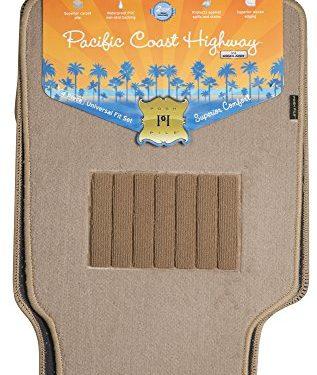 4 Piece – Highland 4460500 Pacific Coast Highway Tan Luxury Carpet Floor Mat