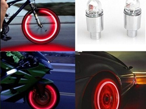 Car Tyres Lamp,Fabal Auto Accessories Bike Supplies Neon Blue Strobe LED Tire Valve Caps Red