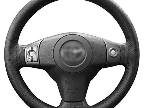 Lemonbest C0196 Universal Car Steering Wheel Stitch On Wrap Cover, 106 cm, Black