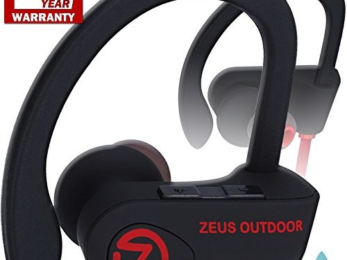 Bluetooth Headphones ZEUS OUTDOOR Wireless Earbuds HD Stereo Waterproof IPX7 Sweatproof Sports Earphones with Mic Best Wireless Headphones for Running Sport Workout Noise Cancelling Bluetooth Headset